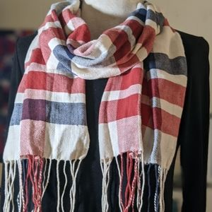 Abercrombie & Fitch Plaid Winter Scarf